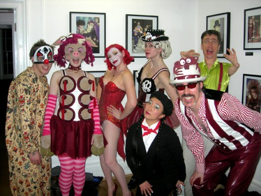 Backstage at the Gawkagogo Freak Show